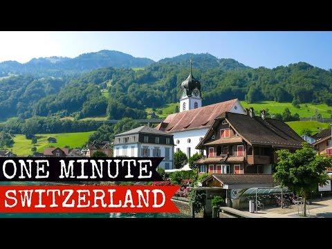 Luzern to Lugano, Chur to Saas Fee | Switzerland in one minute | Full HD 2015