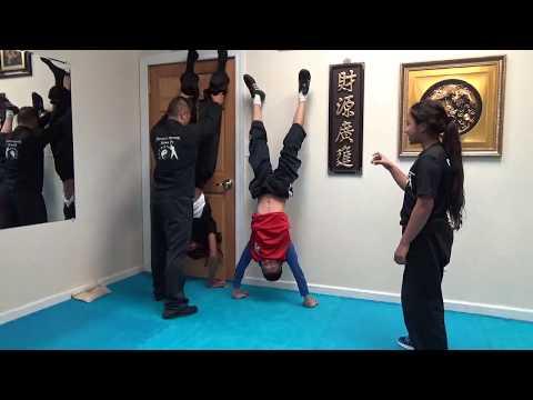 Kung Fu Kids Wall Handstand Challenge