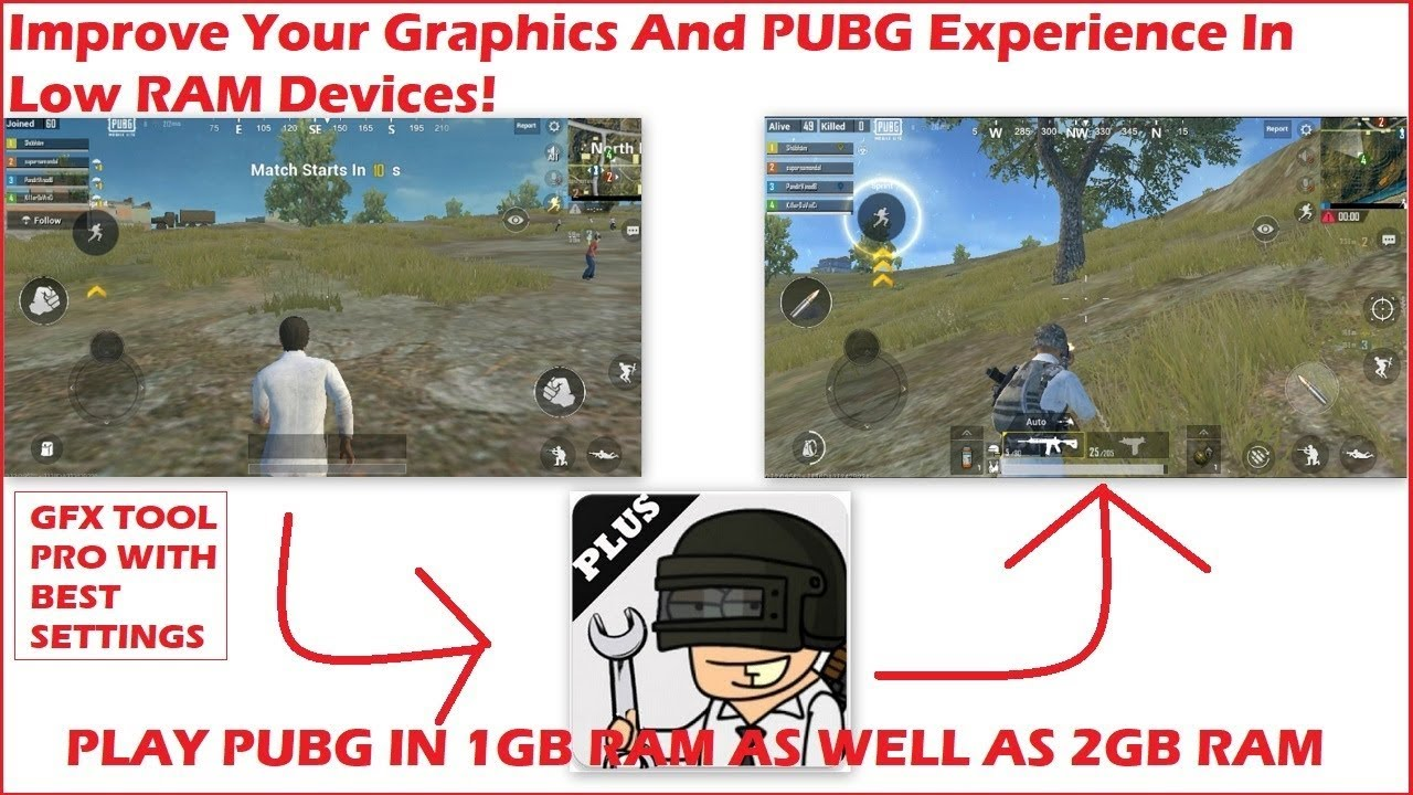 GFX TOOL PRO Best Settings+Improve Your Graphics Of PUBG In Your Low RAM  Android Devices[HINDI]|2019