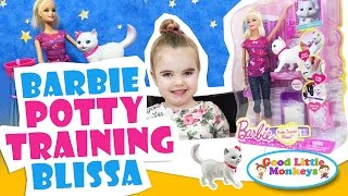 Barbie Potty Training Blissa - Barbie Playset Review and Play