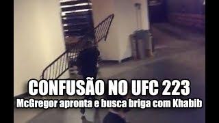McGregor invade UFC 223 em busca de Khabib, ataca ônibus e fere Chiesa
