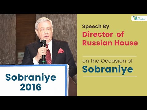 Rus Education: Speech By  Director Russian Centre of Science & Culture on the Ocassion of Sobraniye