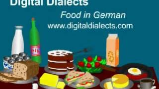 Learn German - words for food