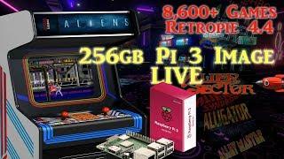 256gb Pi 3 B and B+ Ultimate Image Vman - 8,600+ Games PSX Dreamcast N64 SNES