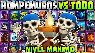 Wall Breakers max level vs all cards