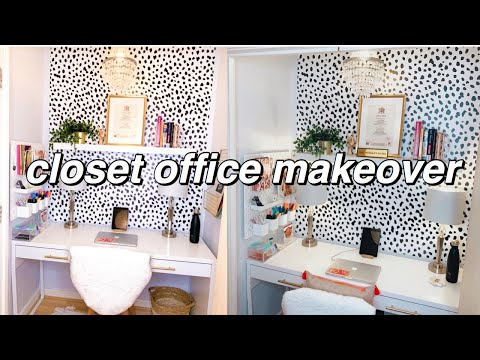 HOME OFFICE MAKEOVER | CLOSET DIY