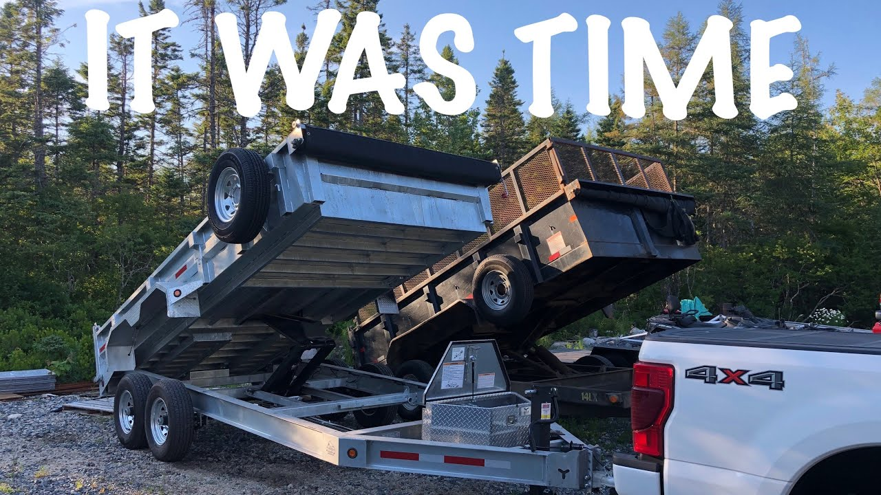 I BOUGHT A NEW DUMP TRAILER BUT MY BIG TEX ISN'T GOING ANYWHERE.