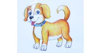 Уроки рисования. Как нарисовать щенка how to draw a cute puppy(Узнайте больше о материалах для детского творчества на этом сайте http://erichkrause.com ▻ Скачайте видео урок