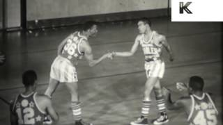 1950s Harlem Globetrotters Training Session, African American, Basketball, Converse