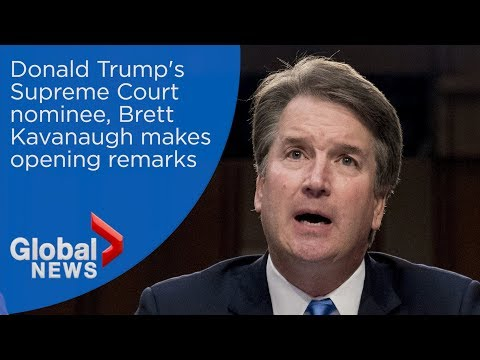 Trump's Supreme Court nominee, Brett Kavanaugh makes opening remarks at confirmation hearing