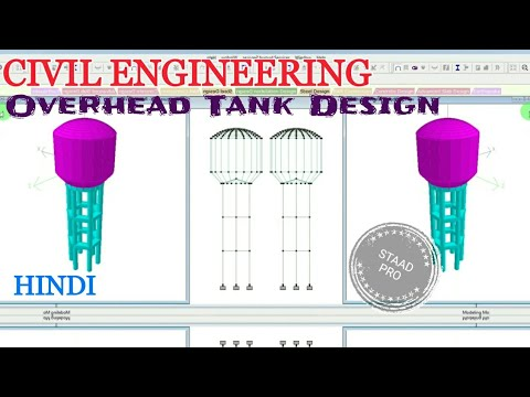 Elevated Water Tank Design by STAAD PRO Tutorial Civil engineering