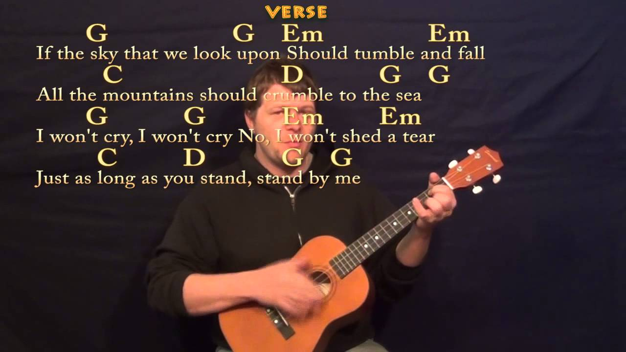 Stand by me ben e king easy baritone ukulele cover lesson in g stand by me ben e king easy baritone ukulele cover lesson in g chordslyrics youtube hexwebz Images