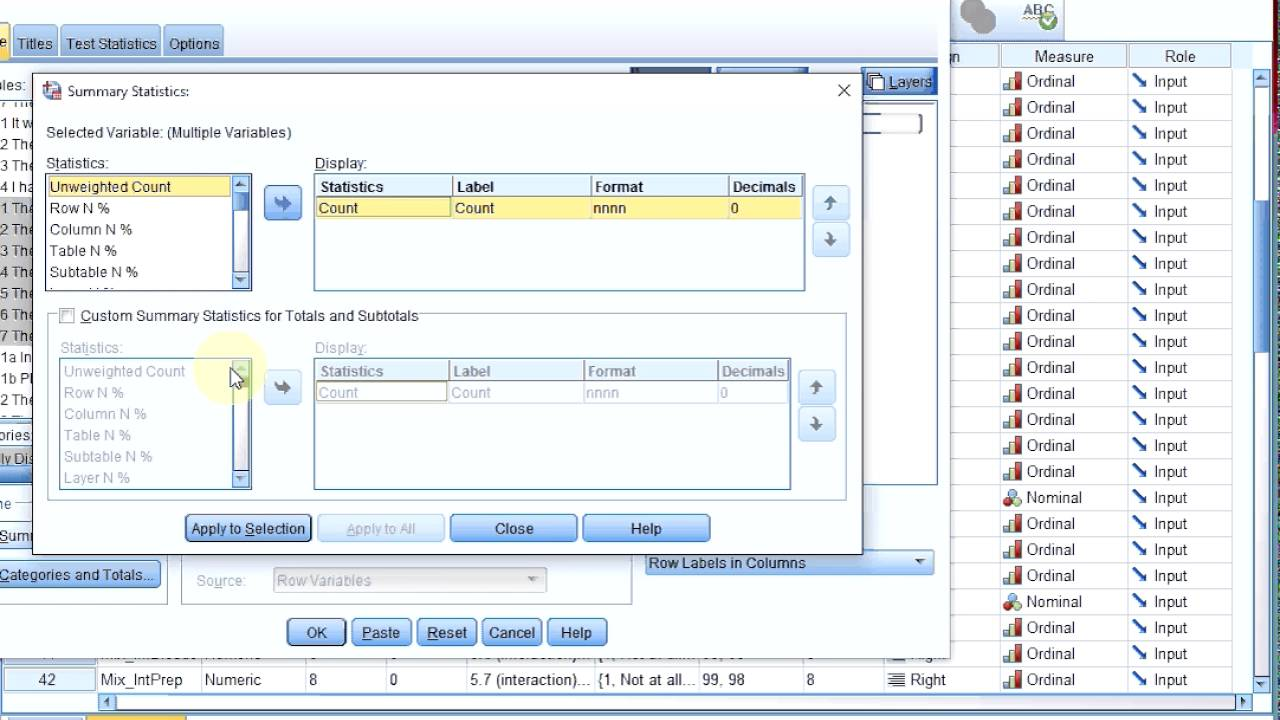 Spss tables multiple variables with same values youtube spss tables multiple variables with same values gamestrikefo Image collections