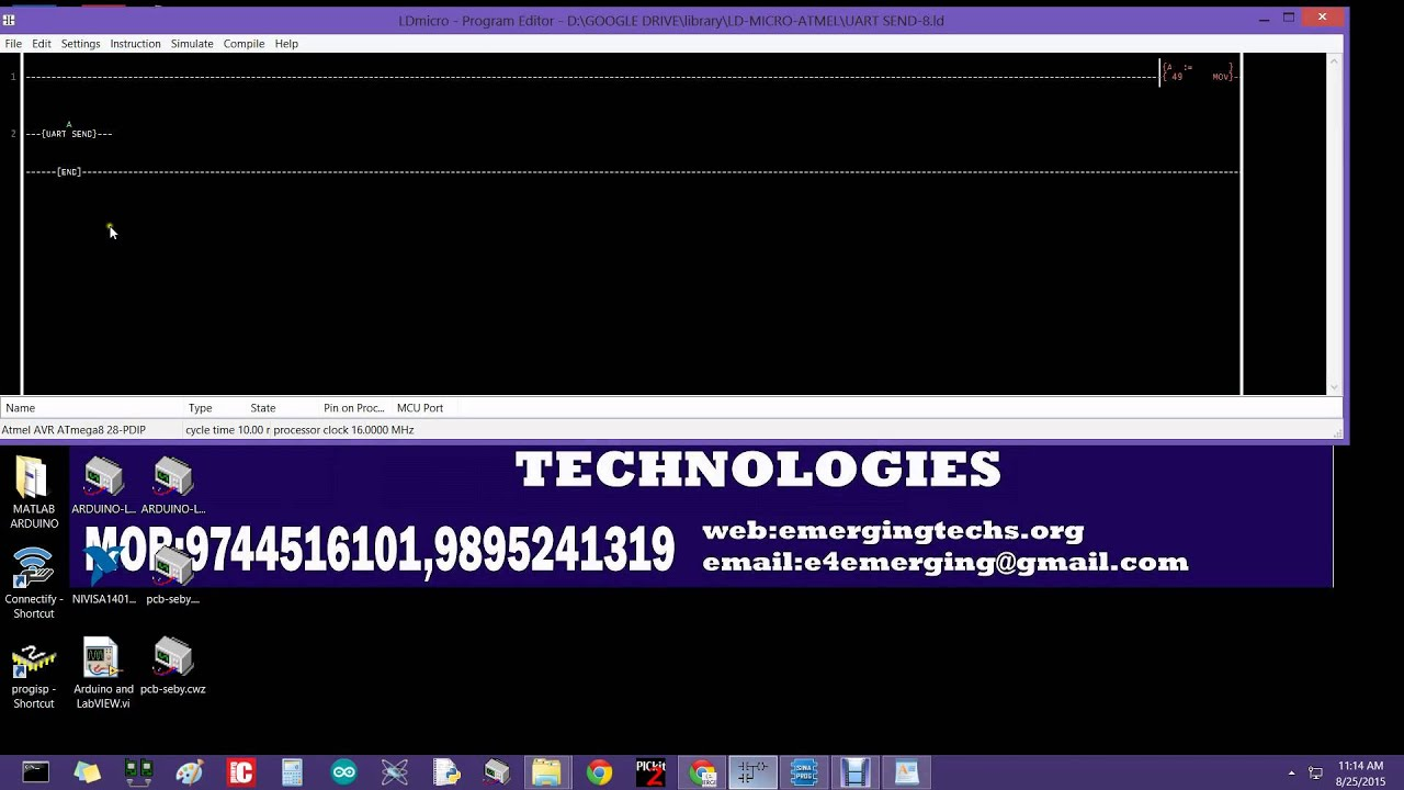How to compile and upload ldmicro program for atmega8 youtube ccuart Images