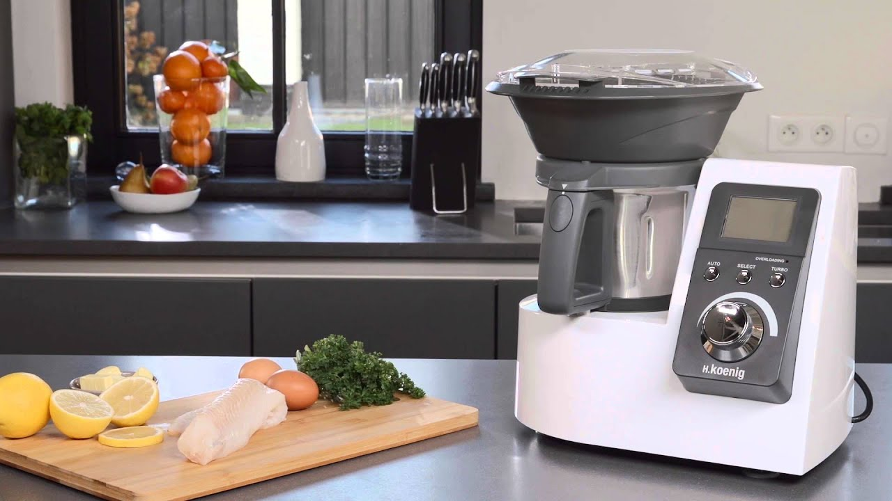 h koenig robot culinaire hkm1032 cooking machine hkm1032 youtube. Black Bedroom Furniture Sets. Home Design Ideas