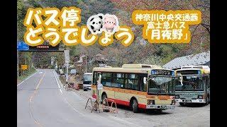 バス停どうでしょう「月夜野(つきよの)」神奈川中央交通西・富士急バス