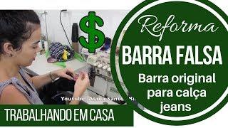 Barra falsa (original) Reforma de costura  Alana Santos Blogger