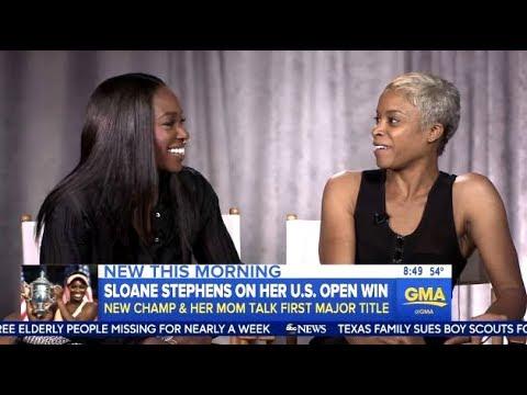 Sloane Stephens & Mom - Chats Her Amazing U.S. Open Run - GMA