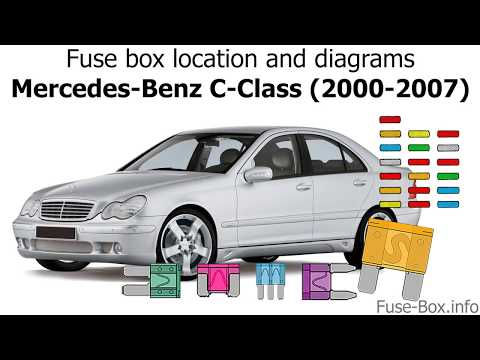 Fuse box location and diagrams: Mercedes-Benz C-Class (2000