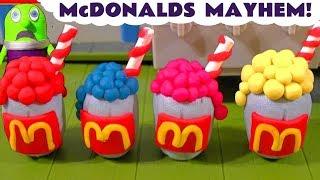 McDonalds Drive Thru Play Doh Milkshake Mayhem with Funny Funlings TT4U