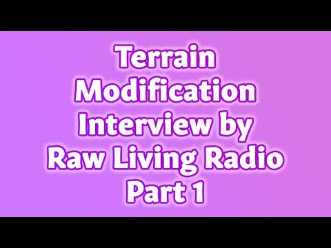 Introduction to Terrain Modification Protocols I Raw Living Radio Part 1 | Dr. Robert Cassar