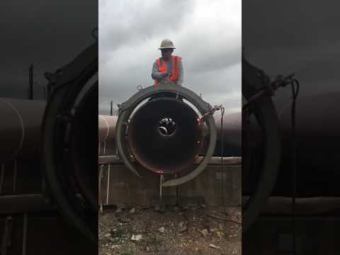 Torch Cutting Large OD heavy wall pipe