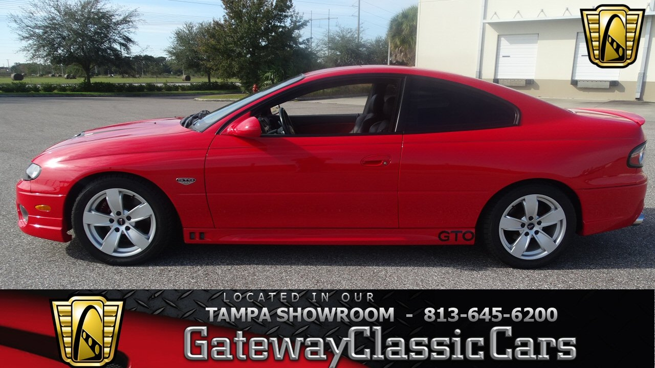 812 TPA 2006 Pontiac GTO 6 0L V8 FI 4 Speed Automatic with Overdrive