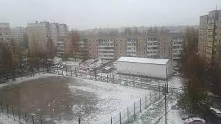 Кострома.Первый снег.18.октября 2020.