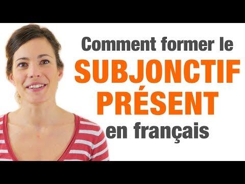 Subjonctif présent français - Formation