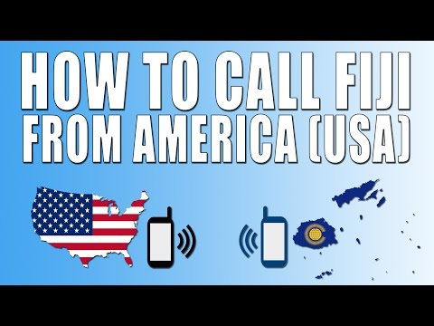 How To Call Fiji From America (USA)