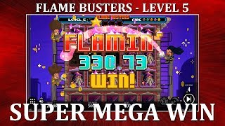 HUGE WIN - Flame Busters - Level 5 - 4 Scatters - Thunderkick