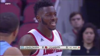 #19 Louisville vs #2 North Carolina 2016 (Basketball Full Game)