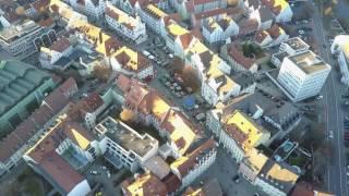 Kempten (Allgäu) - Sicht über St.-Mang-Platz - Luftbildaufnahme