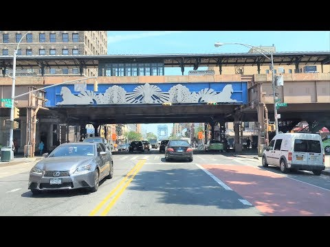 Driving Downtown 4K - Harlem's Main Street - New York City USA