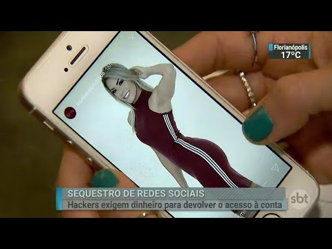 Sequestros de contas nas redes sociais estão cada vez mais comuns   SBT Brasil (30/06/18)