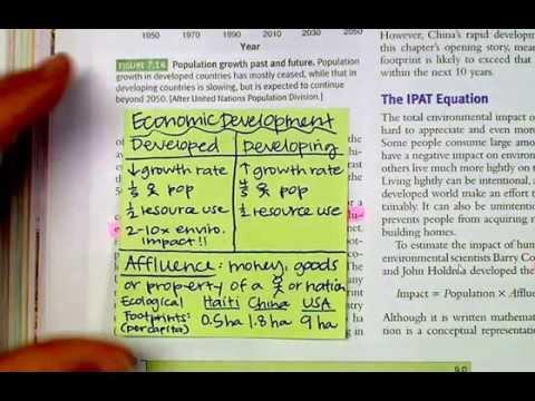 Chapter 7: The Human Population - Lesson 2: Economic Development & Sustainability
