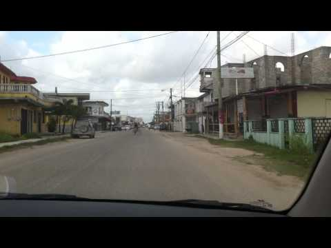 Cruising around Corozal Town, Corozal, Belize jammin' to some Reggae