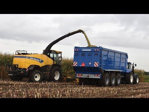 New Holland FR700 & Kemper 375plus - Loonwerken Joosen - mais hakselen