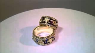видео Обручальные кольца с узором в Москве| Купить обручальные кольца с орнаментом в интернет-магазине Nota-Gold