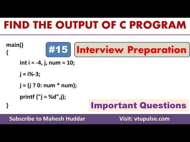 #15 Find the Output, Logical Operators, Conditional Statements, Campus Interview Preparation