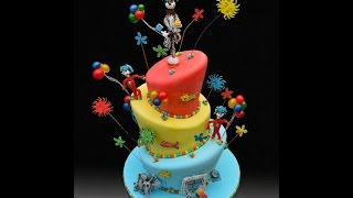 Dr Seuss Topsy Turvy Cake