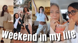 College Weekend in my Life | photoshoot, being productive, try on haul