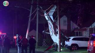 Small plane crashes into lawn of home in Valley Stream, all survive