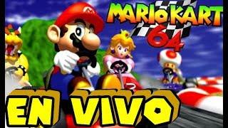 ¡EN VIVO! Mario Kart 64 - Todas Las Carreras