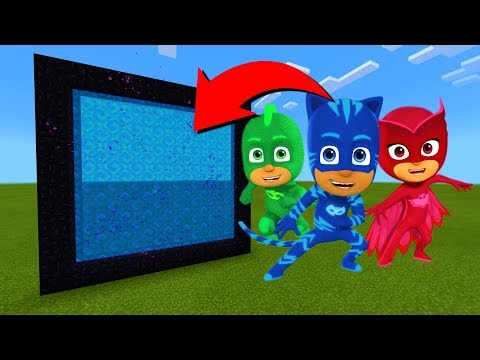How To Make A Portal To The PJ Masks Dimension in Minecraft!