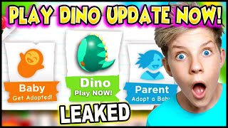 *LEAKED* How To PLAY ADOPT ME FOSSIL DINO EGG UPDATE NOW!! Prezley