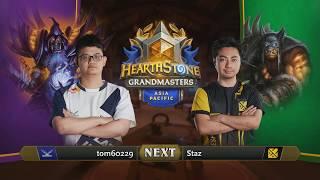 tom60229 vs Staz - Hearthstone Grandmasters Asia-Pacific S2 2019 - Week 1