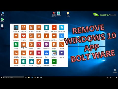 How To Uninstall Windows 10's Built In App Or Bloatware And How To  Reinstall Them (greenpolygames)