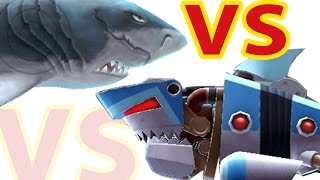 hungry shark evolution megalodon vs robo shark in the sky after big shweekend update