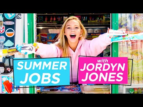 JORDYN JONES ICE CREAM TRUCK CHALLENGE | Summer Jobs W/ Jordyn Jones
